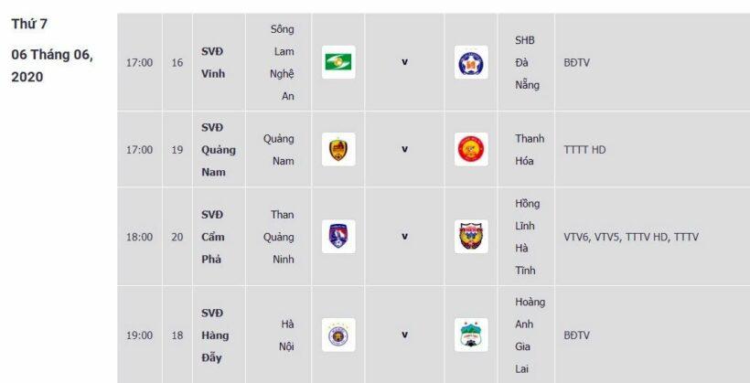 Lịch thi đấu bóng đá hôm nay 6/6: Trực tiếp SLNA vs Đà Nẵng, Hà Nội vs HAGL. Lịch thi đấu, link xem trực tiếp, BXH bóng đá V League vòng 3   News by Thaiger