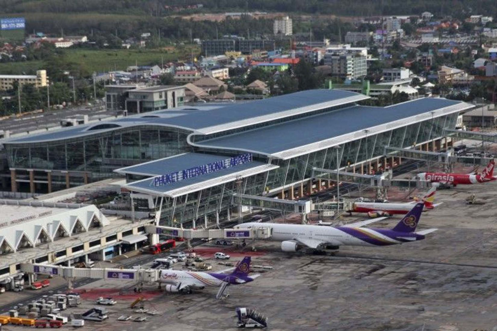 Phuket Airport is open for business. Flights available today.   The Thaiger