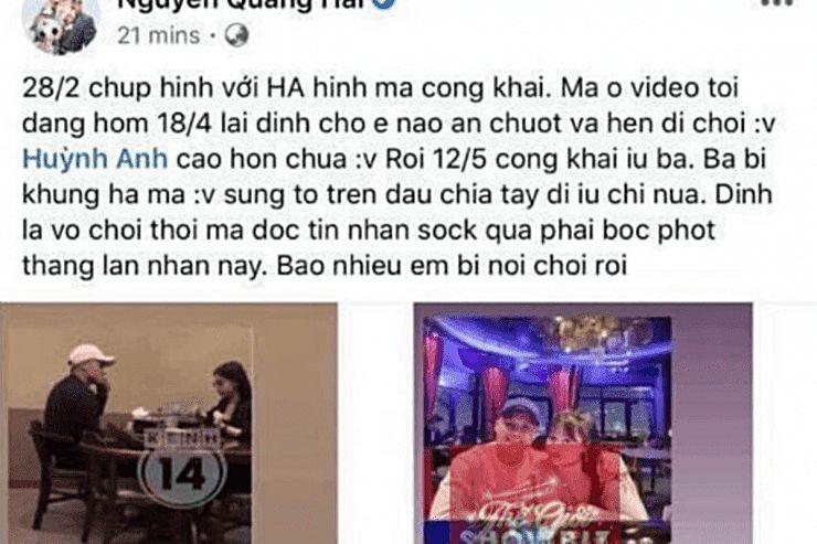 Quang Hải bị hack Facebook cá nhân, bí mật đời tư bị hacker tiết lộ | News by Thaiger