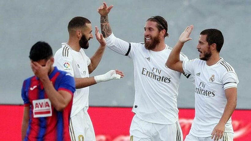 Highlights trận Real Madrid vs Eibar: Rượt đuổi Barca (Vòng 28 La Liga) | News by The Thaiger