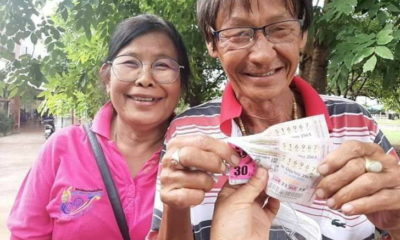 Couple wins millions in lottery, husband's age is the lucky number   Thaiger