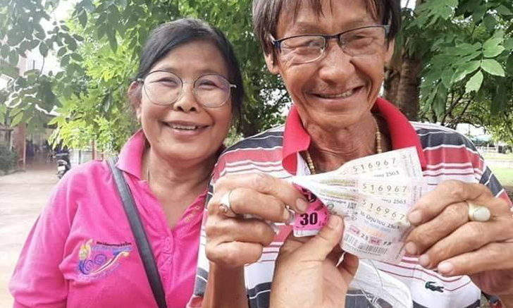 Couple wins millions in lottery, husband's age is the lucky number | Thaiger
