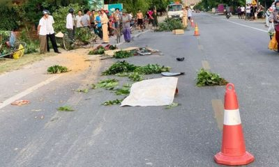 Hà Tĩnh: Xe tải lao vào nhóm đi xe đạp khiến 1 người chết, 2 người bị thương | The Thaiger
