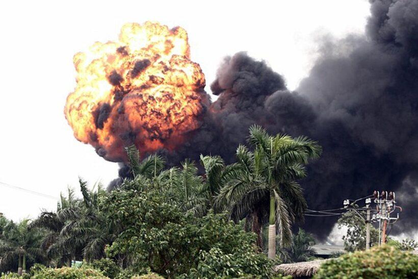 Phong tỏa hiện trường vụ cháy kho hoá chất ở Đức Giang để điều tra   News by Thaiger
