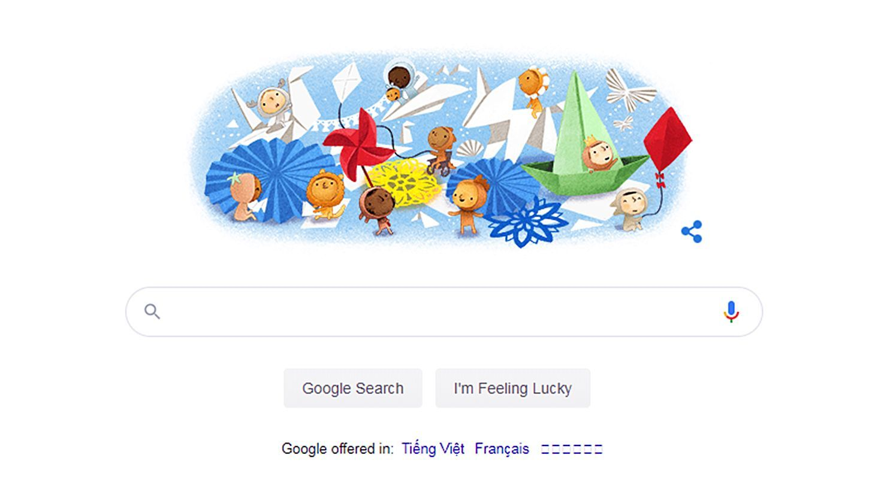 Google Doodle chúc mừng Ngày Thiếu nhi 1/6   The Thaiger