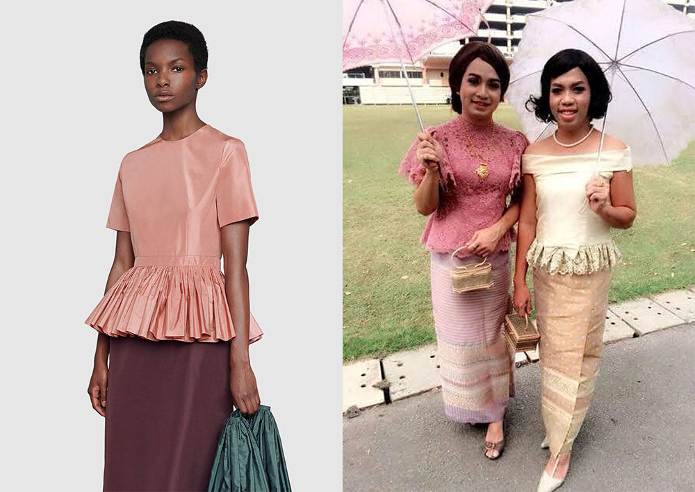 """Thai netizens in stitches over 158,000 baht Gucci """"Granny"""" dress 