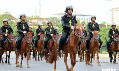 Đoàn cảnh sát cơ động kỵ binh lần đầu tiên ra mắt tại Việt Nam | Thaiger