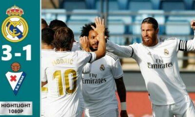 Highlights trận Real Madrid vs Eibar: Rượt đuổi Barca (Vòng 28 La Liga) | Thaiger