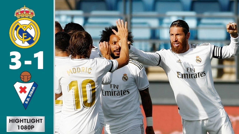 Highlights trận Real Madrid vs Eibar: Rượt đuổi Barca (Vòng 28 La Liga) | The Thaiger