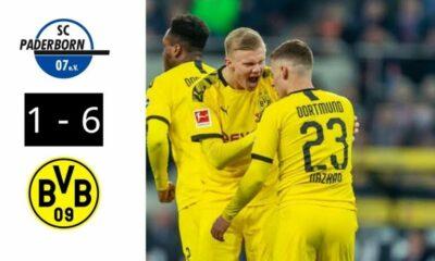 Highlights trận Dortmund vs Paderborn (Vòng 29 giải VĐQG Đức Bundesliga): Sancho lập hat-trick giúp Dortmund thắng dễ đội bét bảng | Thaiger