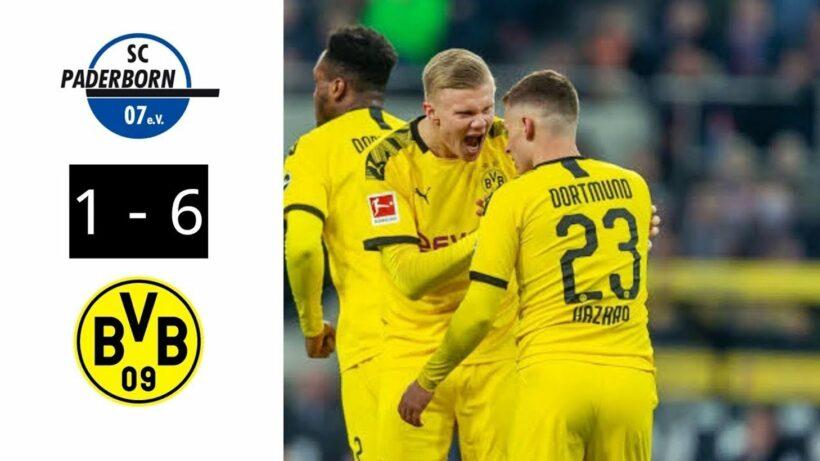 Highlights trận Dortmund vs Paderborn (Vòng 29 giải VĐQG Đức Bundesliga): Sancho lập hat-trick giúp Dortmund thắng dễ đội bét bảng | The Thaiger