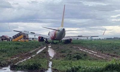 Sân bay Tân Sơn Nhất tạm đóng cửa vì sự cố trượt khỏi đường băng của máy bay Vietjet | The Thaiger