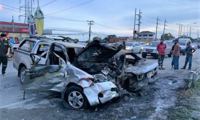 Man dies in collision after car bursts into flames in Bangkok | Thaiger