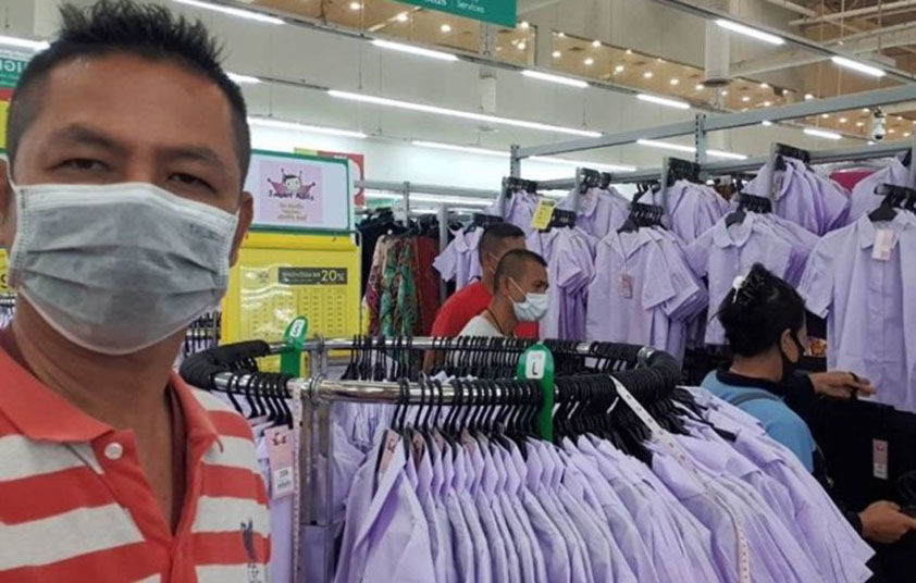 Customers help woman detained for shoplifting school uniforms | Thaiger
