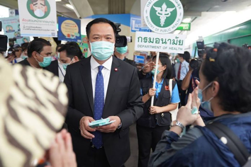 Thailand's controversial health minister apologises for not wearing face mask | The Thaiger