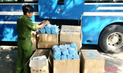 Hà Tĩnh: Bắt ô tô vận chuyển 72.000 khẩu trang y tế và gần 200 cá thể động vật không rõ nguồn gốc | The Thaiger