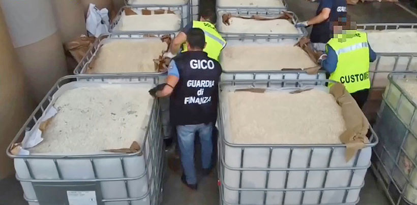 Italian police seize 14 tonnes of amphetamine valued at 1 billion euros | News by The Thaiger