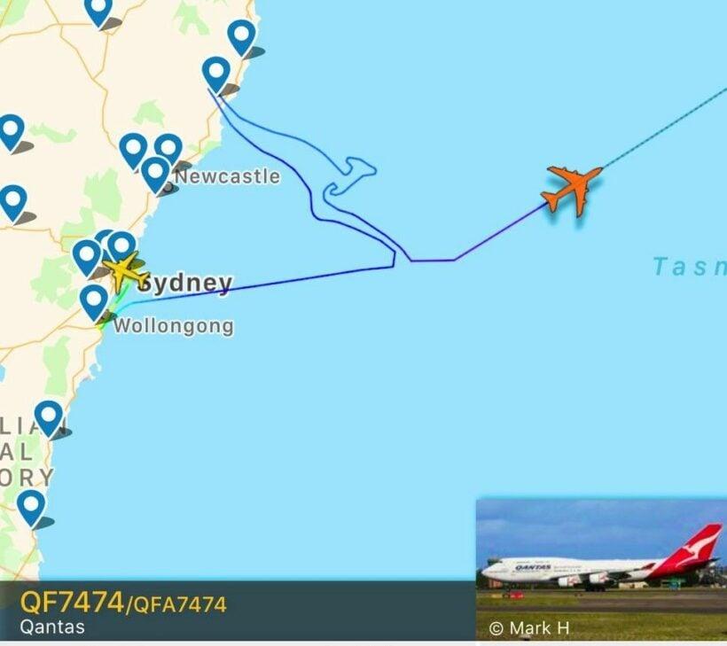 Last Qantas 747 flight draws kangaroo logo in the sky to mark final voyage - VIDEO | News by Thaiger