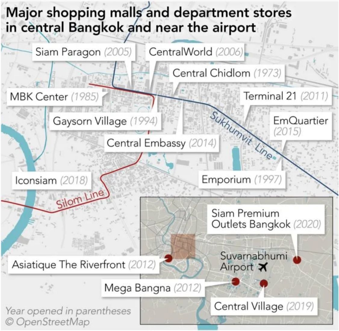 Bangkok's shopping malls struggle under tourist ban, fierce competition | News by Thaiger