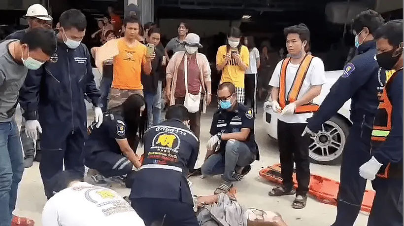 Electric company worker severely shocked, injured in 5 metre fall | Thaiger