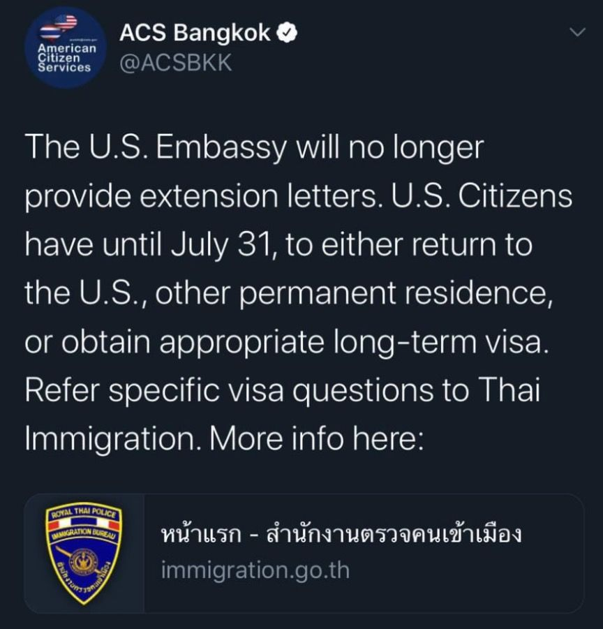 Foreign embassies stop issuing visa extension letters | News by Thaiger