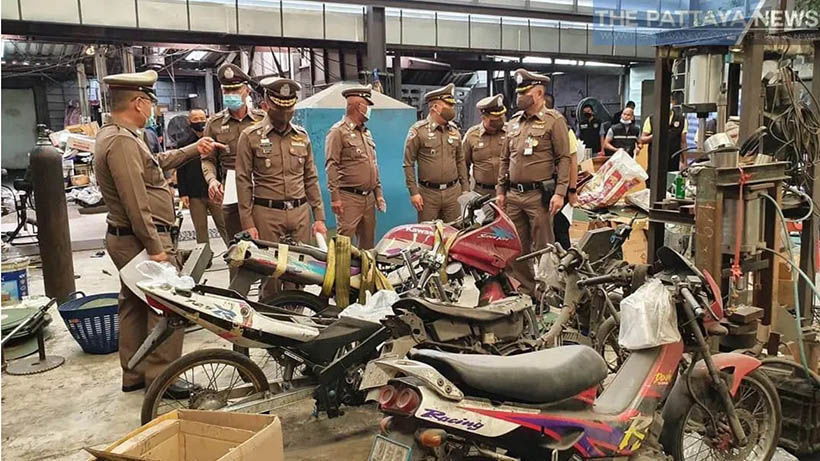 Police raid illegal motorbike parts factory in Chon Buri   News by Thaiger