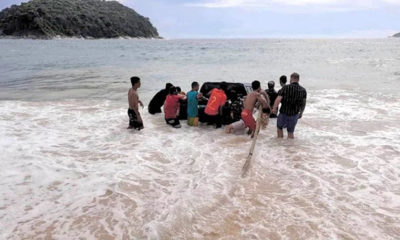 Truck goes for a swim at Phuket beach – VIDEO | Thaiger