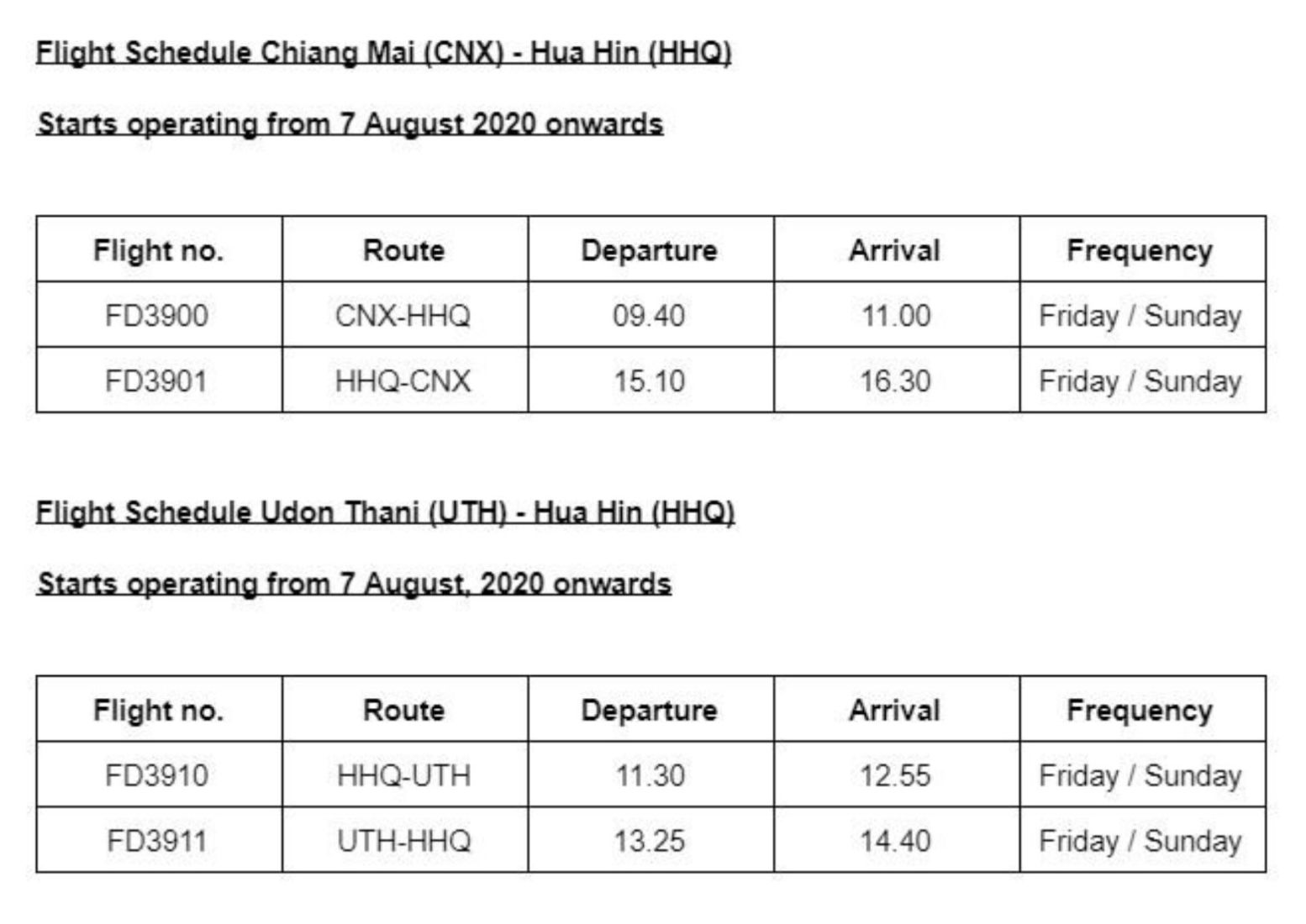 Air Asia announces 2 new cross-country domestic routes into Hua Hin | News by Thaiger