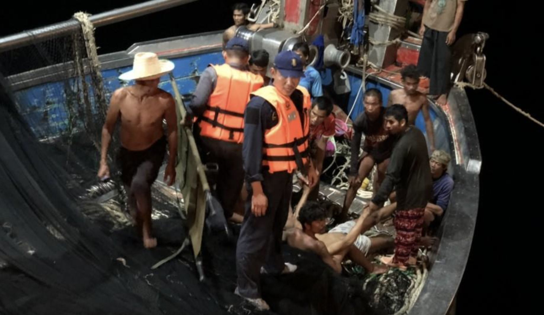 Navy rescues Thai sailor after electric shock on fishing boat | Thaiger