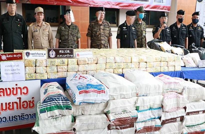 Millions of meth pills, tonnes of marijuana seized in 3 major drug hauls   The Thaiger
