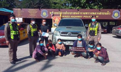 Sa Kaeo police nab 6 illegal migrants, Thai driver | Thaiger