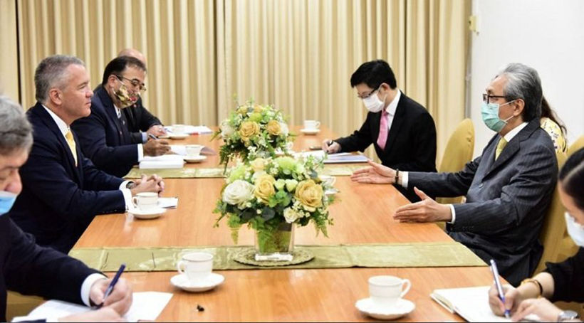 """US ambassador meets deputy PM to discuss Thailand's """"great investment potential"""" 