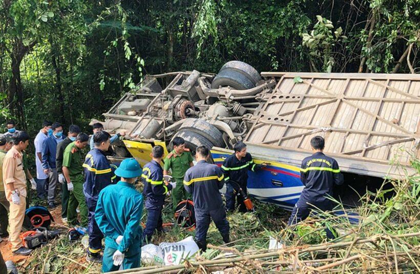 Vụ xe khách lao xuống vực ở Kon Tum: Thêm 1 người chết, hé lộ nguyên nhân tai nạn | The Thaiger