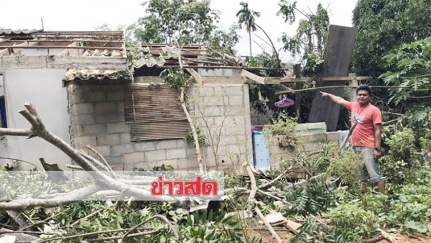 Stormy weather wreaks havoc, destroys homes, in southern Thailand | Thaiger