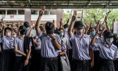 "Phuket student protests and is flunked as ""not loyal to the nation"" 