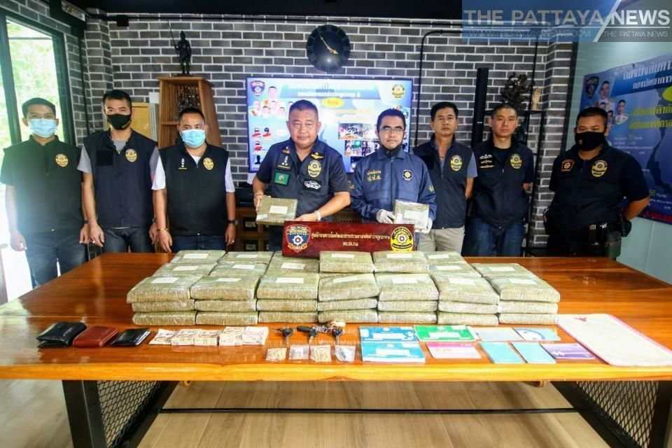 107 kilograms of cannabis seized, 3 arrested in Chon Buri drugs bust | Thaiger