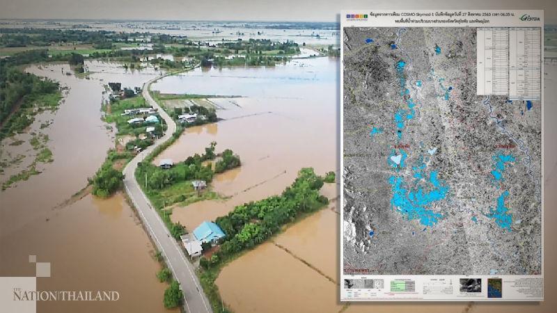 Satellite captures flood devastation in Thailand's lower-north | News by Thaiger