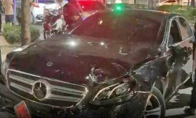 Allegedly drunk woman tries to run down Bangkok pedestrians | The Thaiger