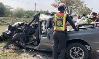 5 family members killed in early morning collision in Nakhon Ratchasima | The Thaiger