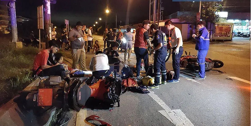 3 injured in Chon Buri motorcycle incident | News by Thaiger