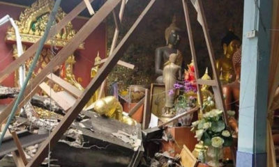 """Crane, """"toppled by ghosts,"""" destroys southern wat – VIDEO 