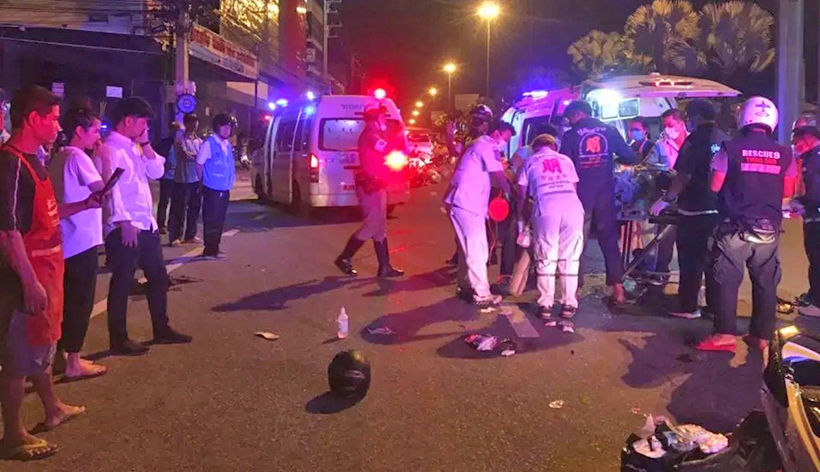 Pattaya motorcyclist suffers severe injuries in collision | News by Thaiger