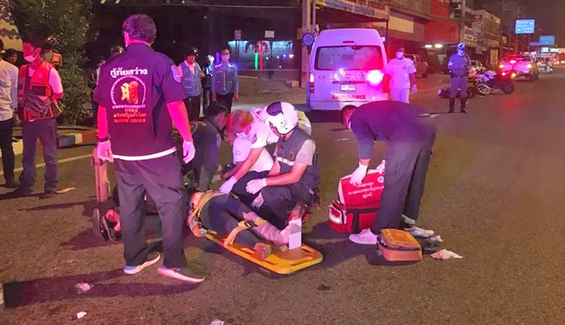 Pattaya motorcyclist suffers severe injuries in collision | Thaiger