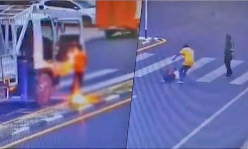 Trucker electrocuted in Phuket – VIDEO | Thaiger