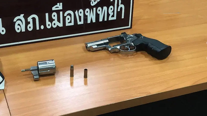 Pattaya man arrested after firing pistol in public | News by Thaiger