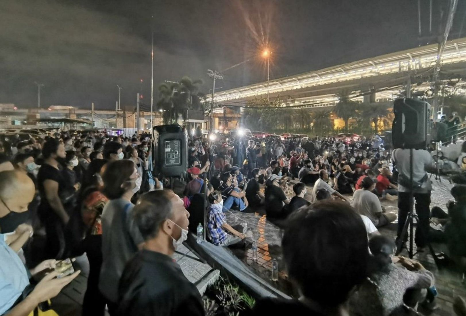 A night of drama as 2 protesters face court in Bangkok over