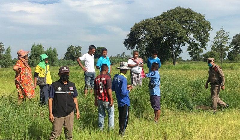 Isaan village chief finds human bones in rice field | Thaiger