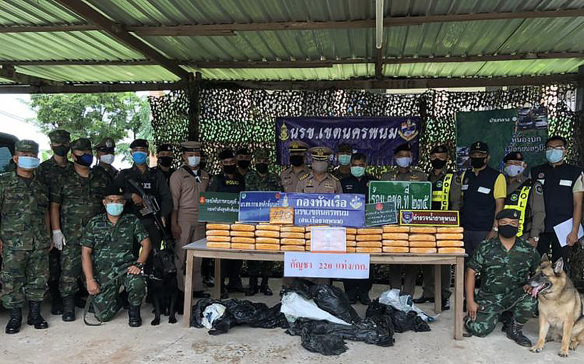 220 kilograms of marijuana seized, 2 arrested in Nakhon Phanom | News by The Thaiger