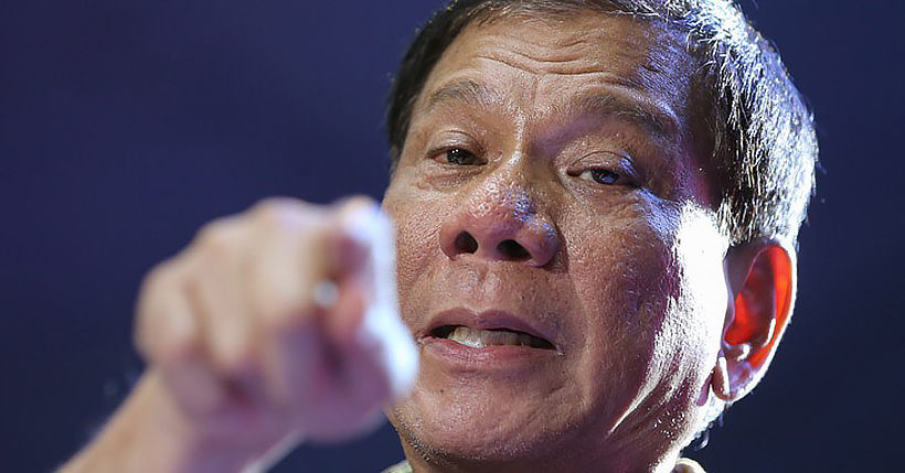 Duterte tells Filipinos to clean masks with petrol | Thaiger
