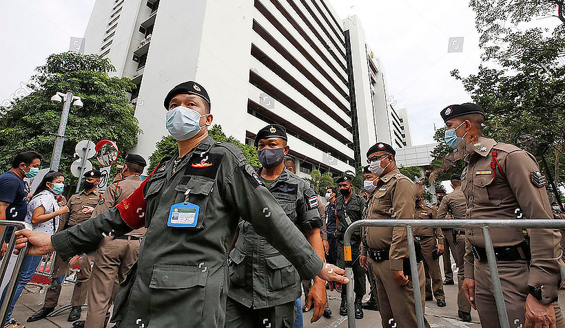 Security ramped up for activists' hearing at Criminal Court   Thaiger